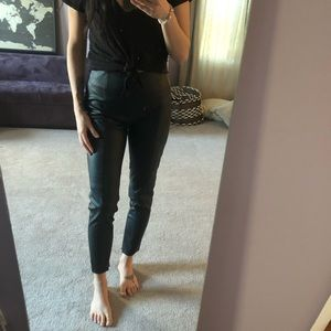 "Zara black ""leather"" pants"